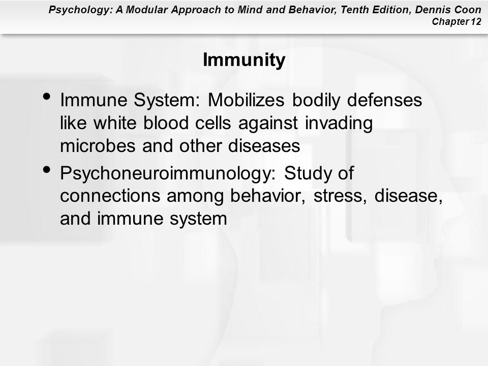 Immunity Immune System: Mobilizes bodily defenses like white blood cells against invading microbes and other diseases.