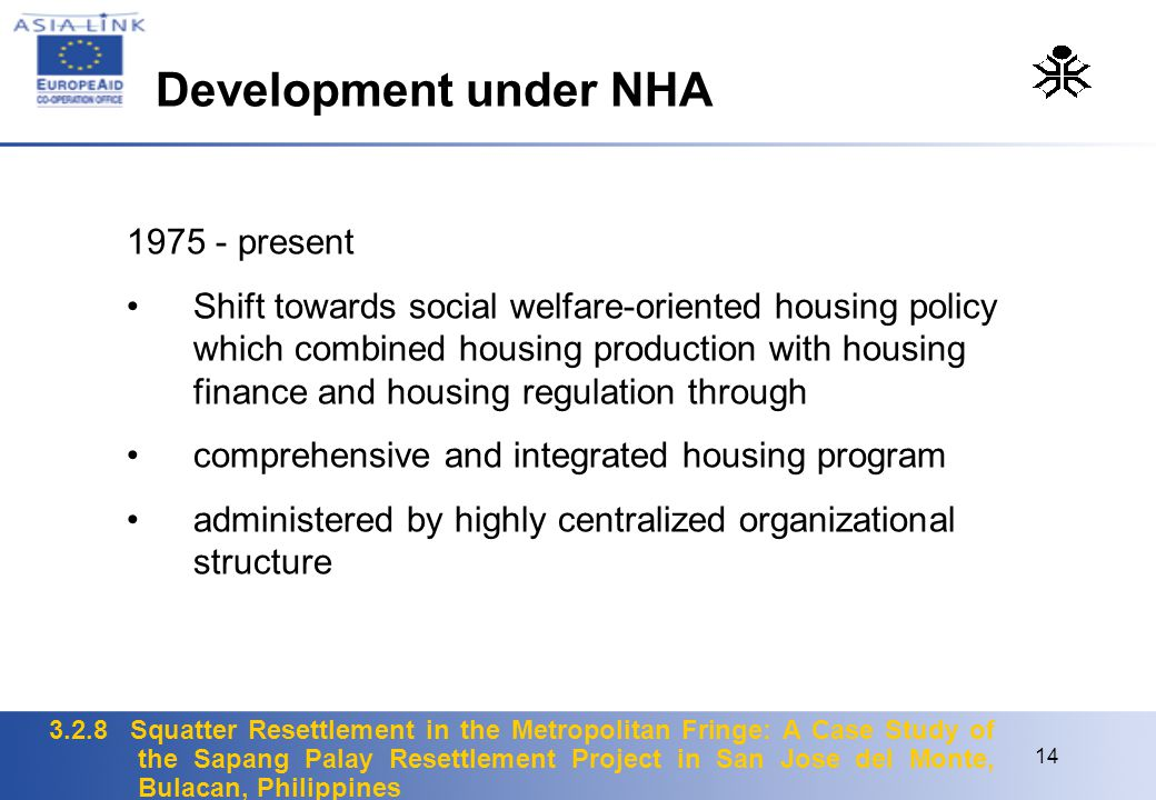 Development under NHA 1975 - present