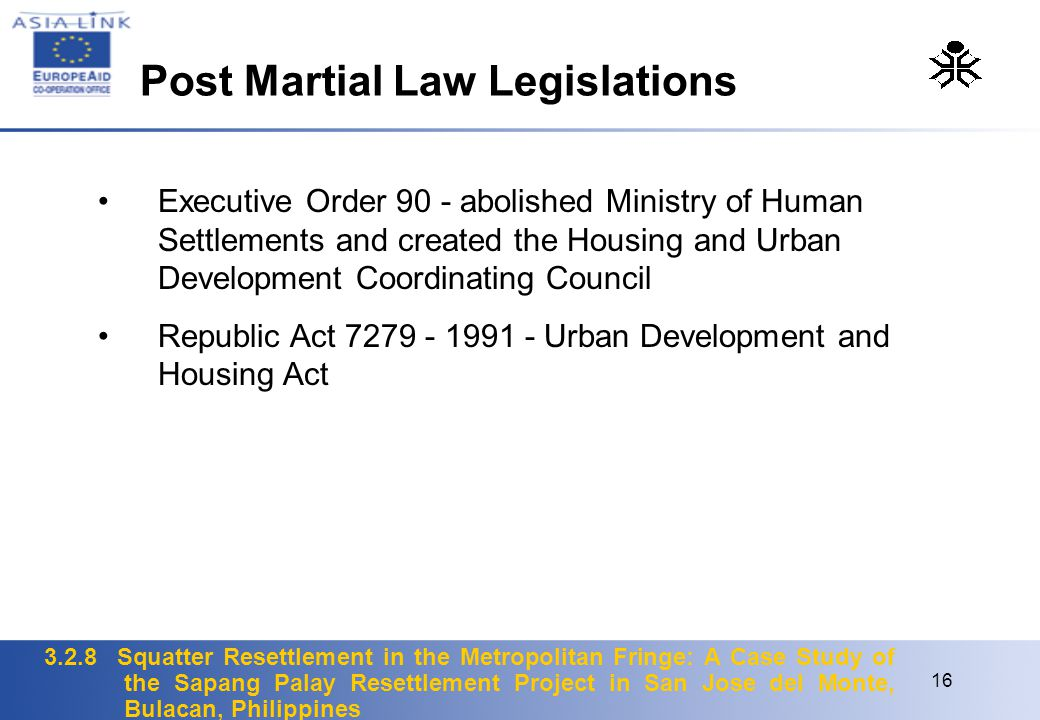 Post Martial Law Legislations