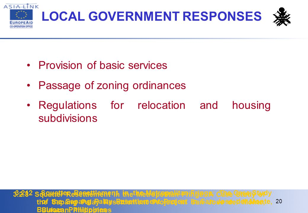 LOCAL GOVERNMENT RESPONSES