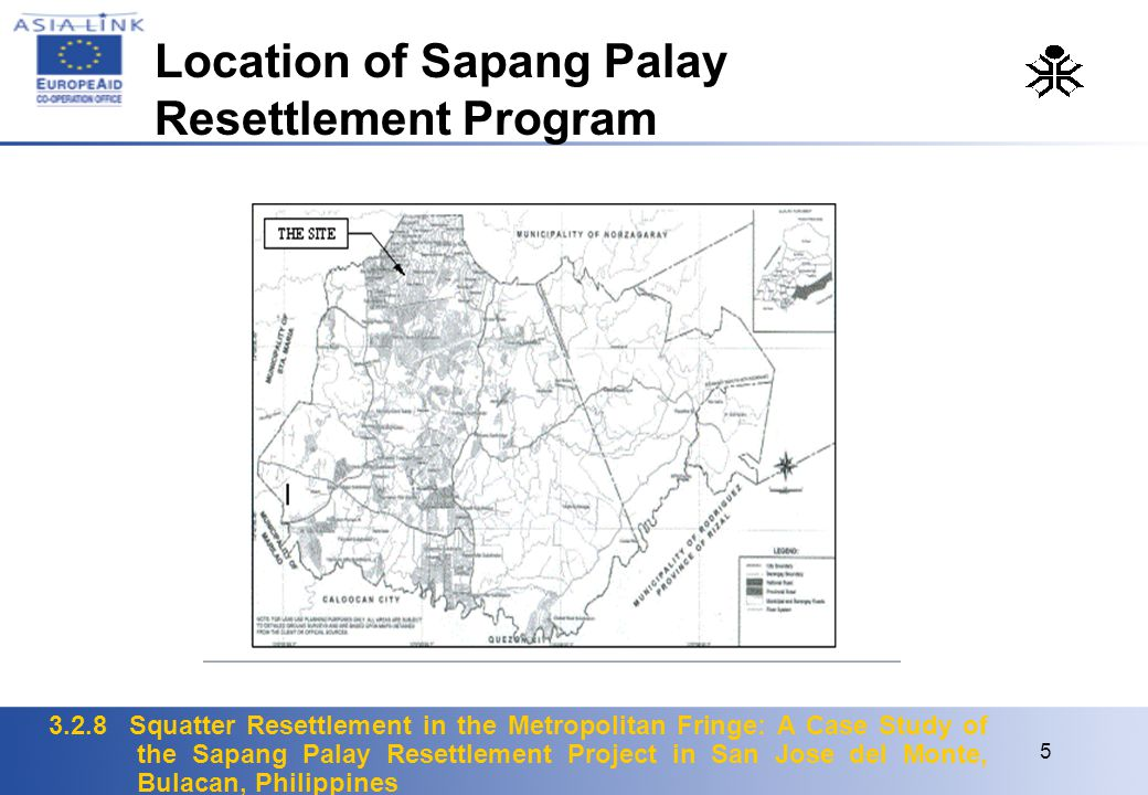 Location of Sapang Palay Resettlement Program