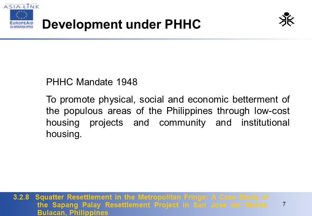 Development under PHHC