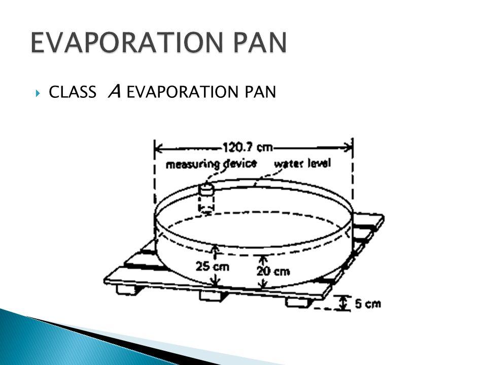 EVAPORATION PAN CLASS A EVAPORATION PAN