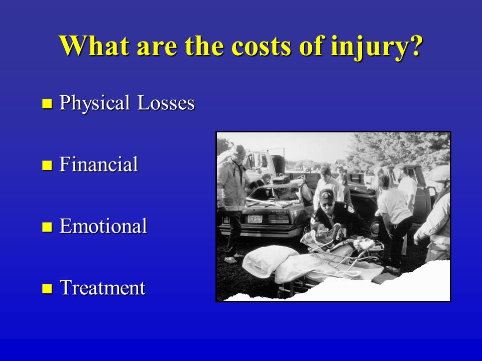 What are the costs of injury