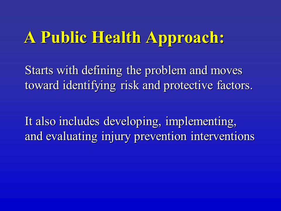 A Public Health Approach: