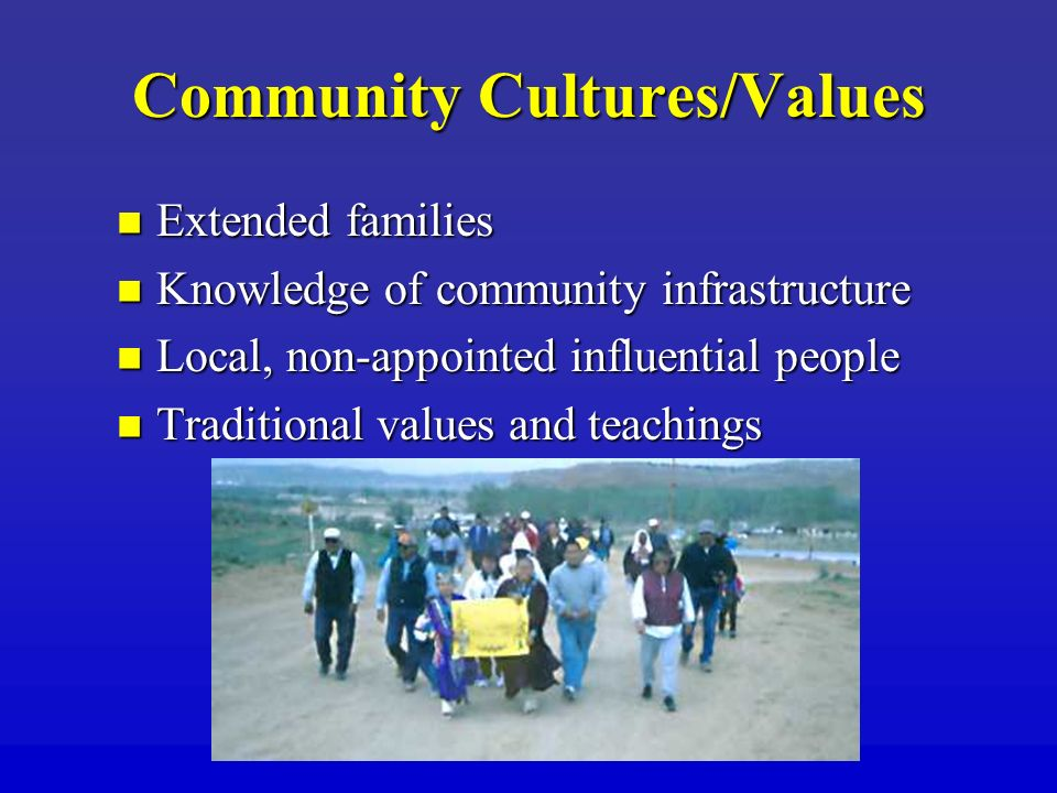 Community Cultures/Values