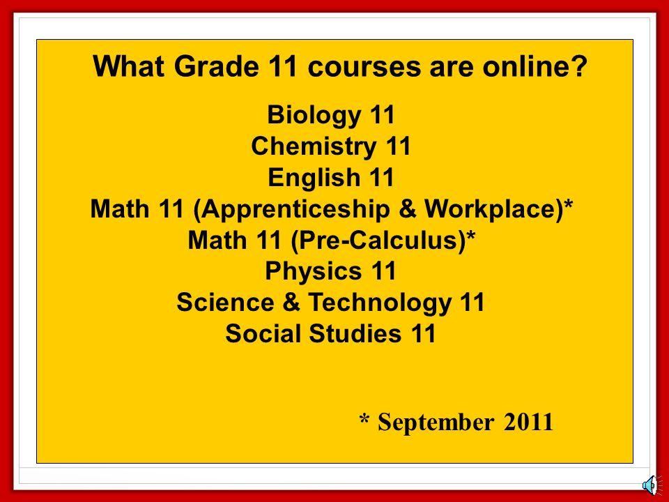Math 11 (Apprenticeship & Workplace)*