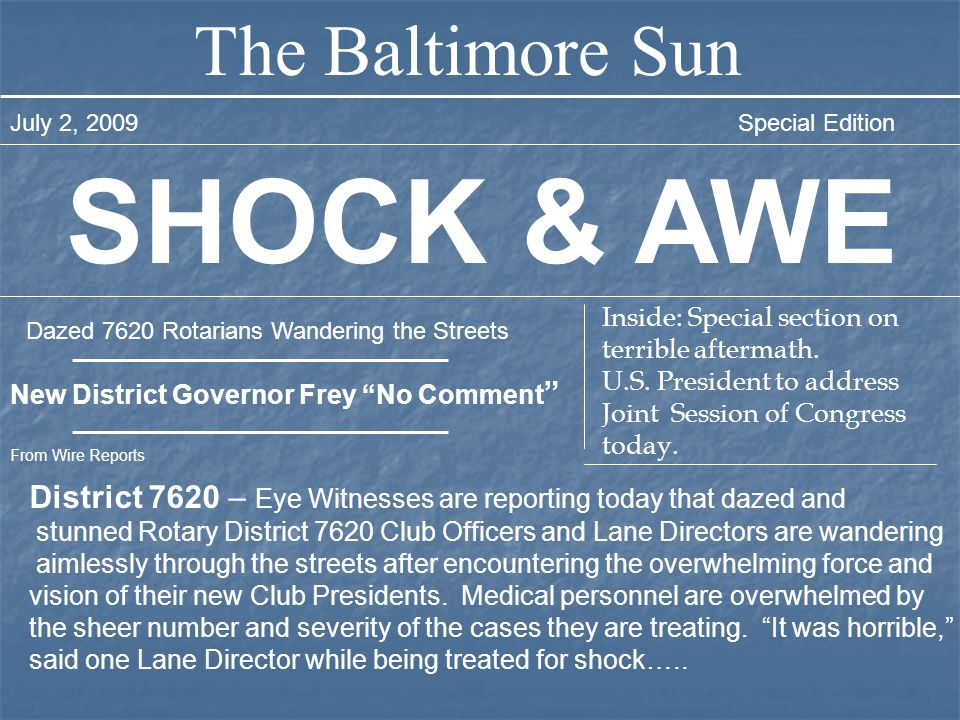 SHOCK & AWE The Baltimore Sun
