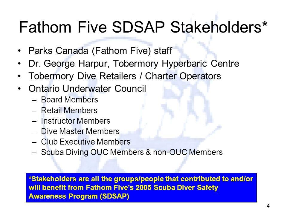 Fathom Five SDSAP Stakeholders*