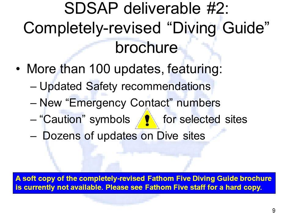 SDSAP deliverable #2: Completely-revised Diving Guide brochure