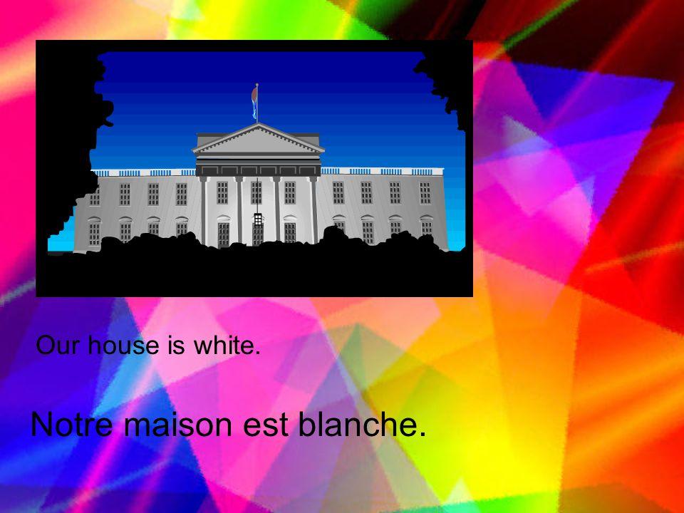 Notre maison est blanche.
