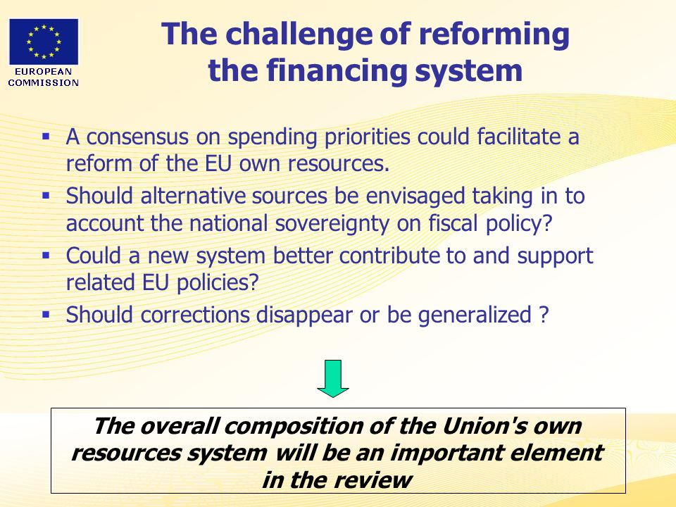The challenge of reforming the financing system