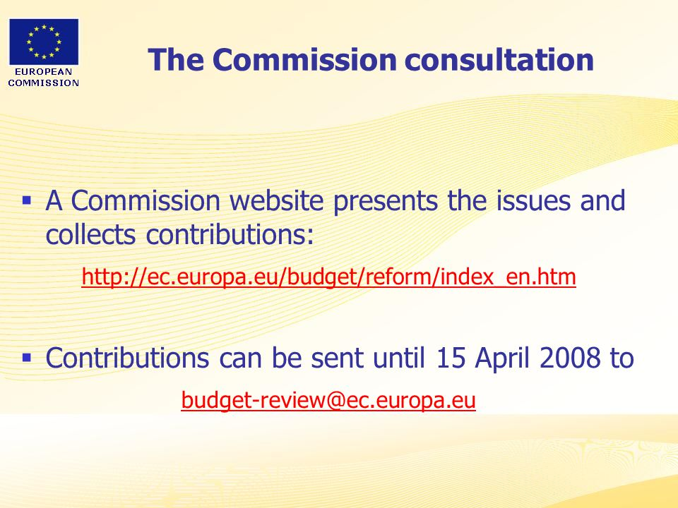 The Commission consultation