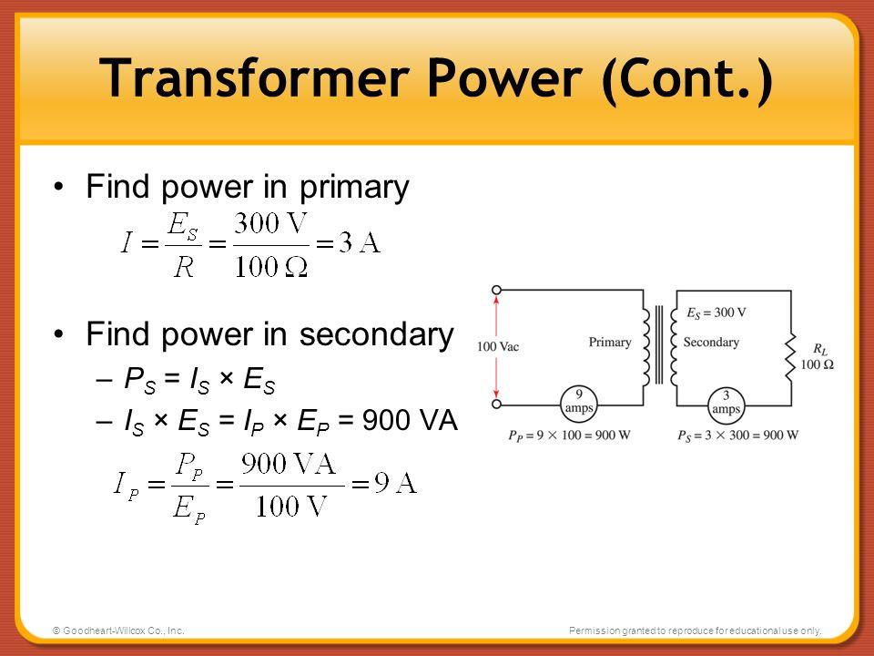 Transformer Power (Cont.)