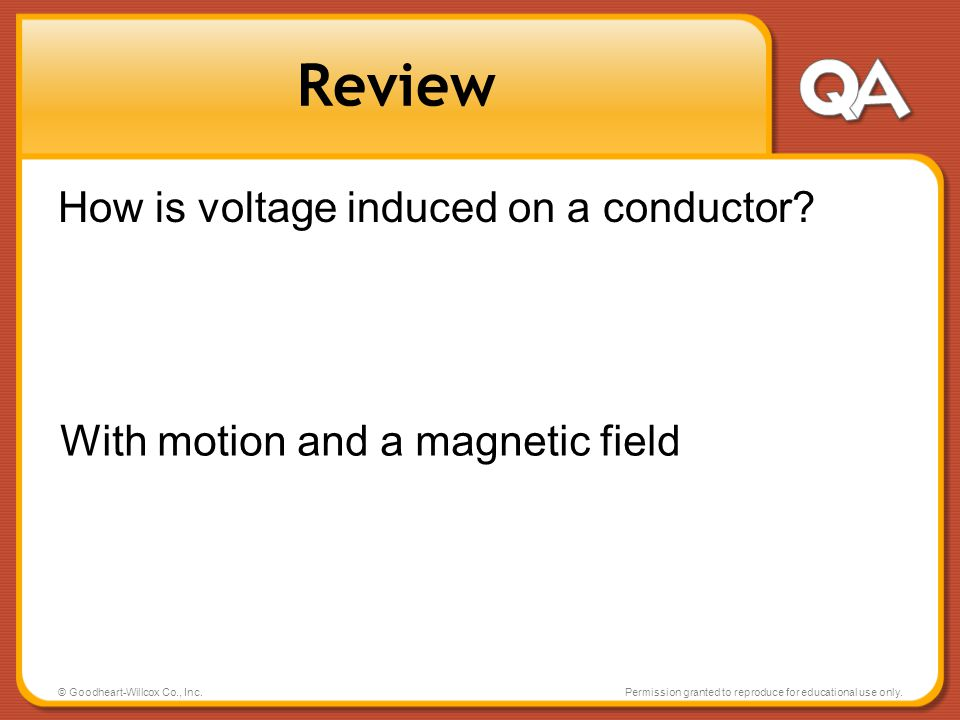 Review How is voltage induced on a conductor