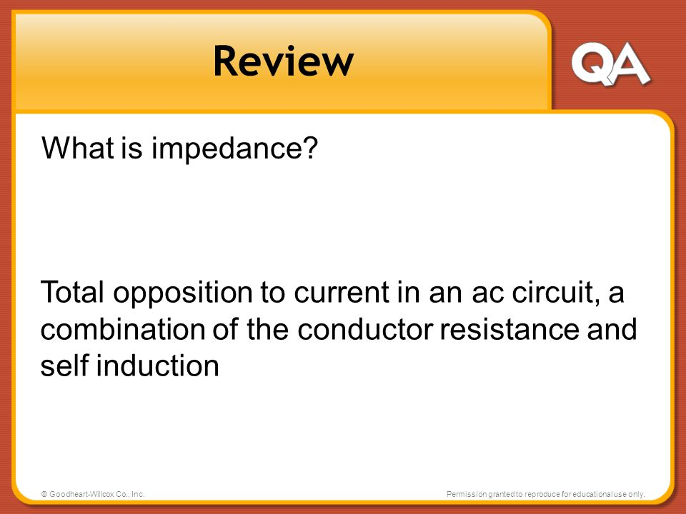 Review What is impedance