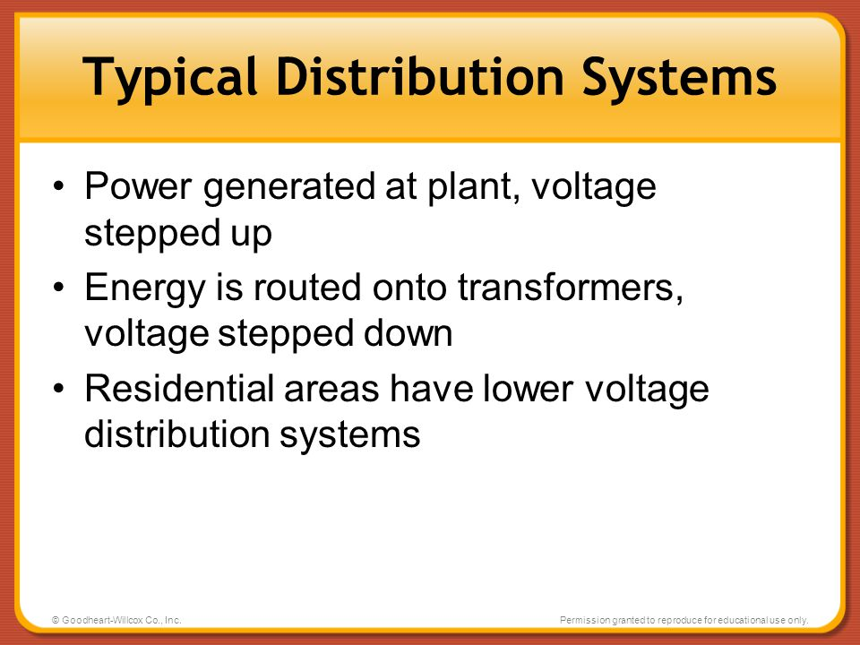 Typical Distribution Systems