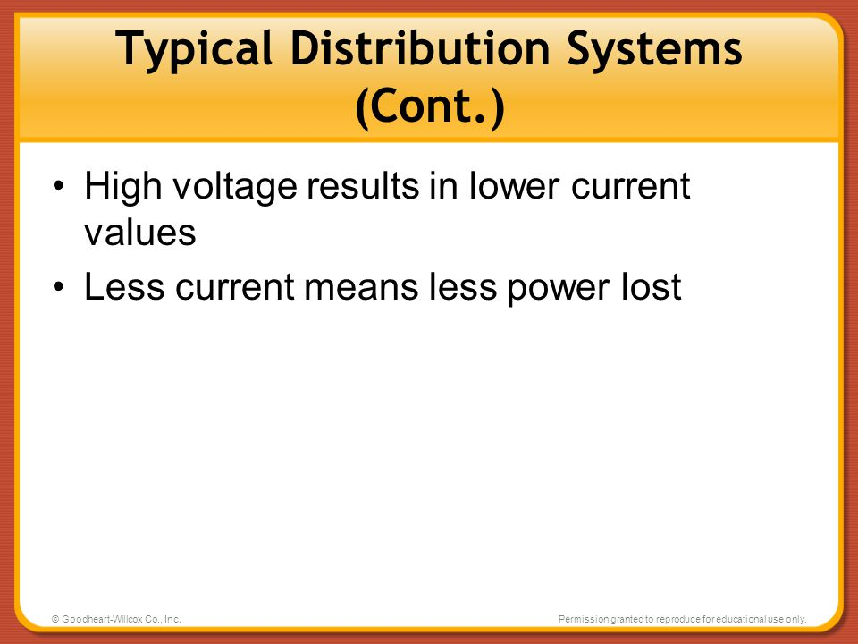 Typical Distribution Systems (Cont.)