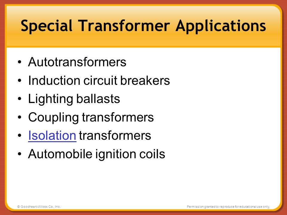 Special Transformer Applications