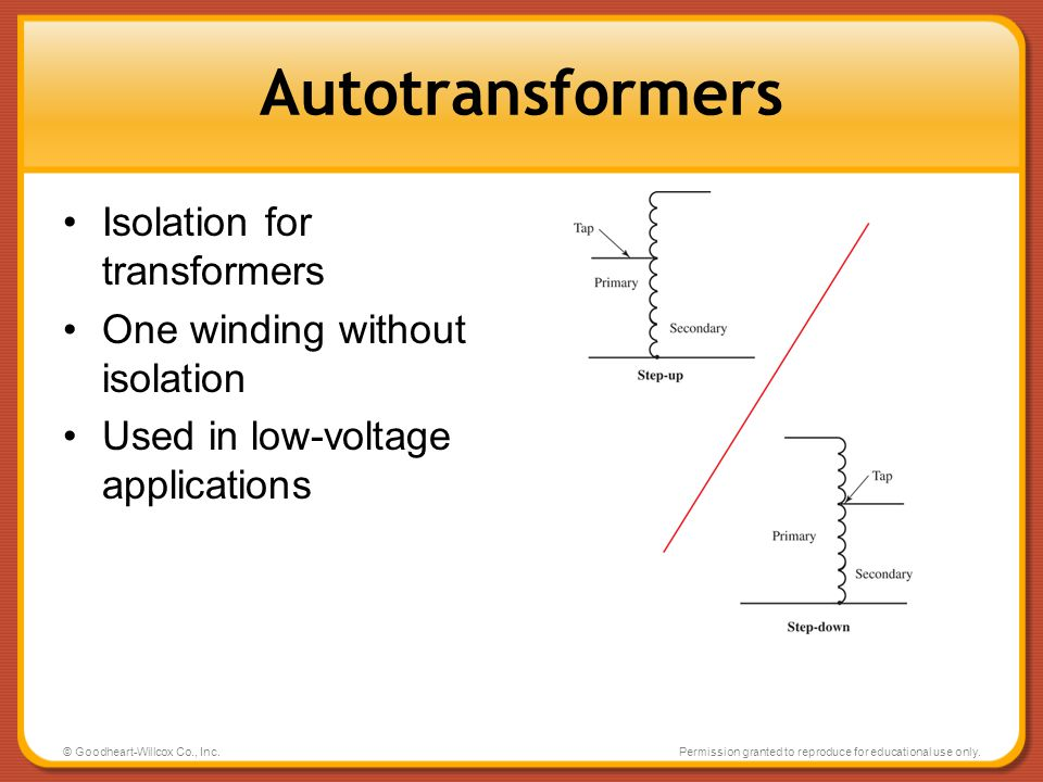 Autotransformers Isolation for transformers