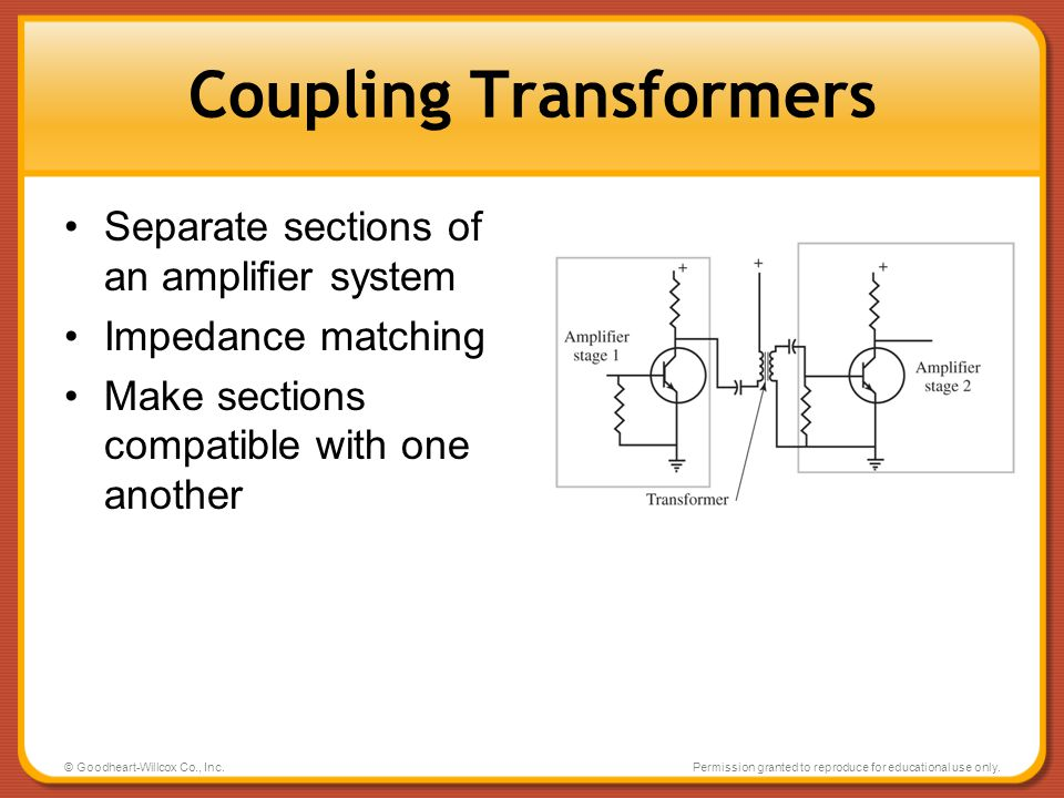 Coupling Transformers