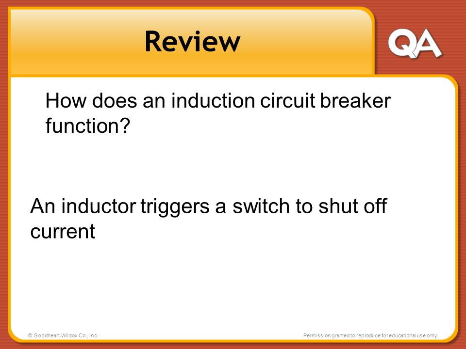 Review How does an induction circuit breaker function