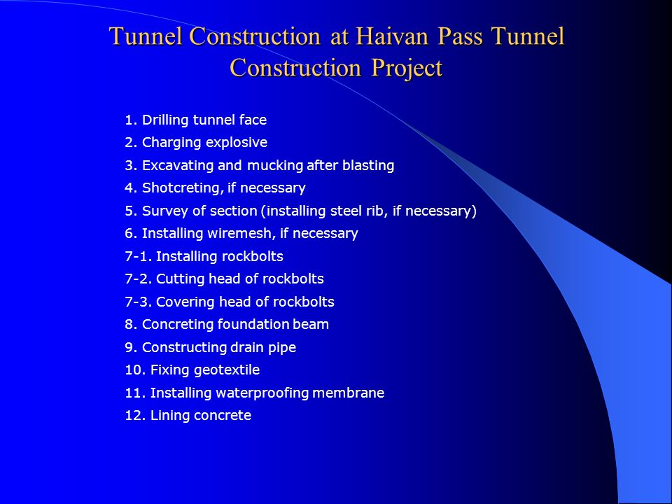 Tunnel Construction at Haivan Pass Tunnel Construction Project