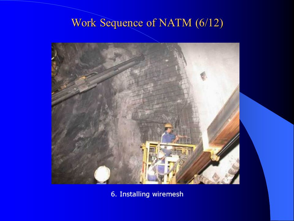 Work Sequence of NATM (6/12)