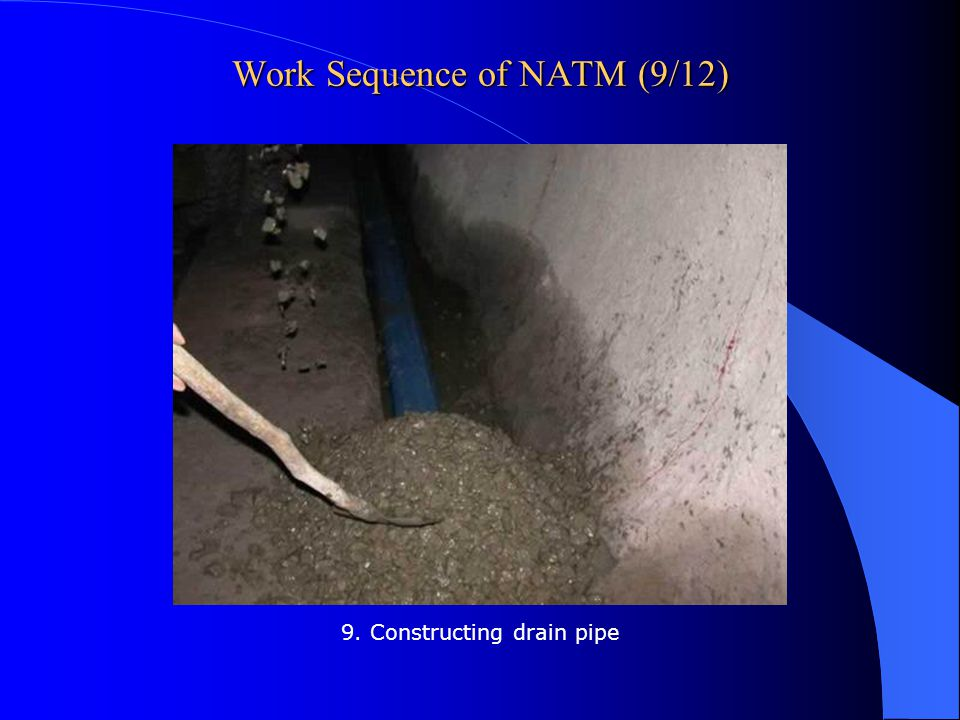 Work Sequence of NATM (9/12)