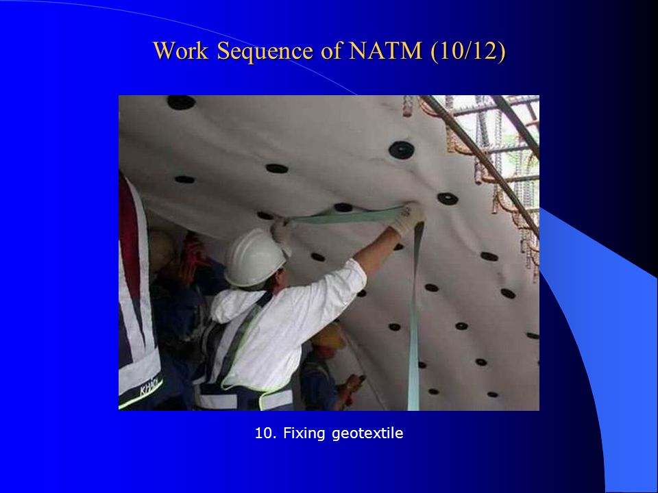 Work Sequence of NATM (10/12)