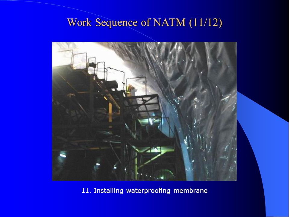 Work Sequence of NATM (11/12)