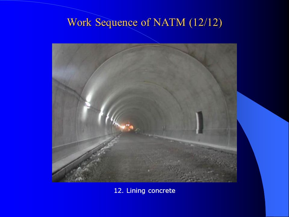 Work Sequence of NATM (12/12)