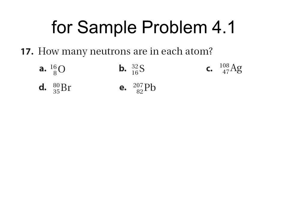 for Sample Problem 4.1