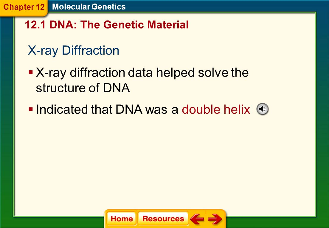 X-ray diffraction data helped solve the structure of DNA