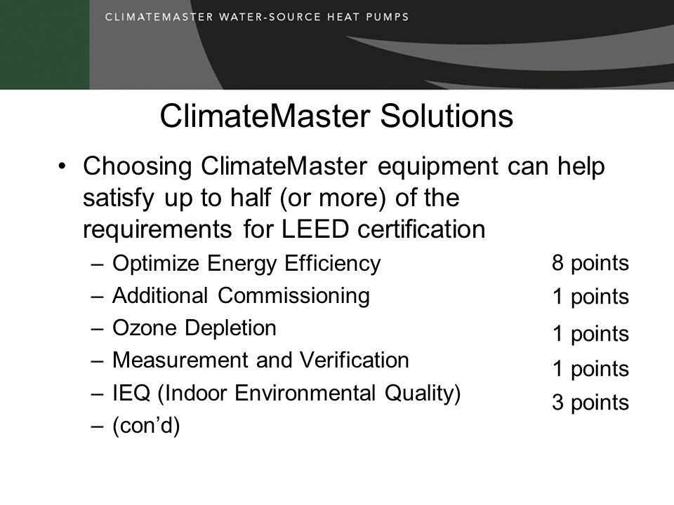 ClimateMaster Solutions