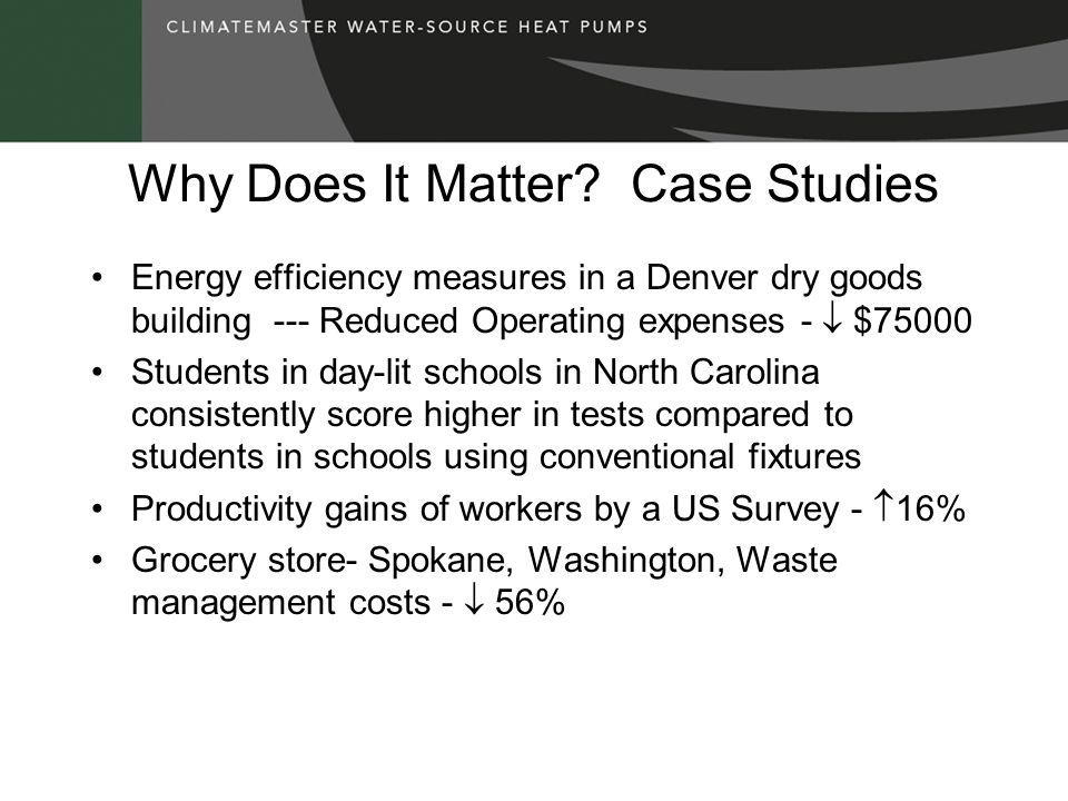Why Does It Matter Case Studies