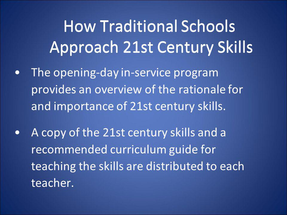 How Traditional Schools Approach 21st Century Skills