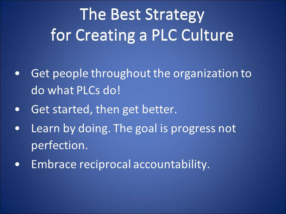 The Best Strategy for Creating a PLC Culture