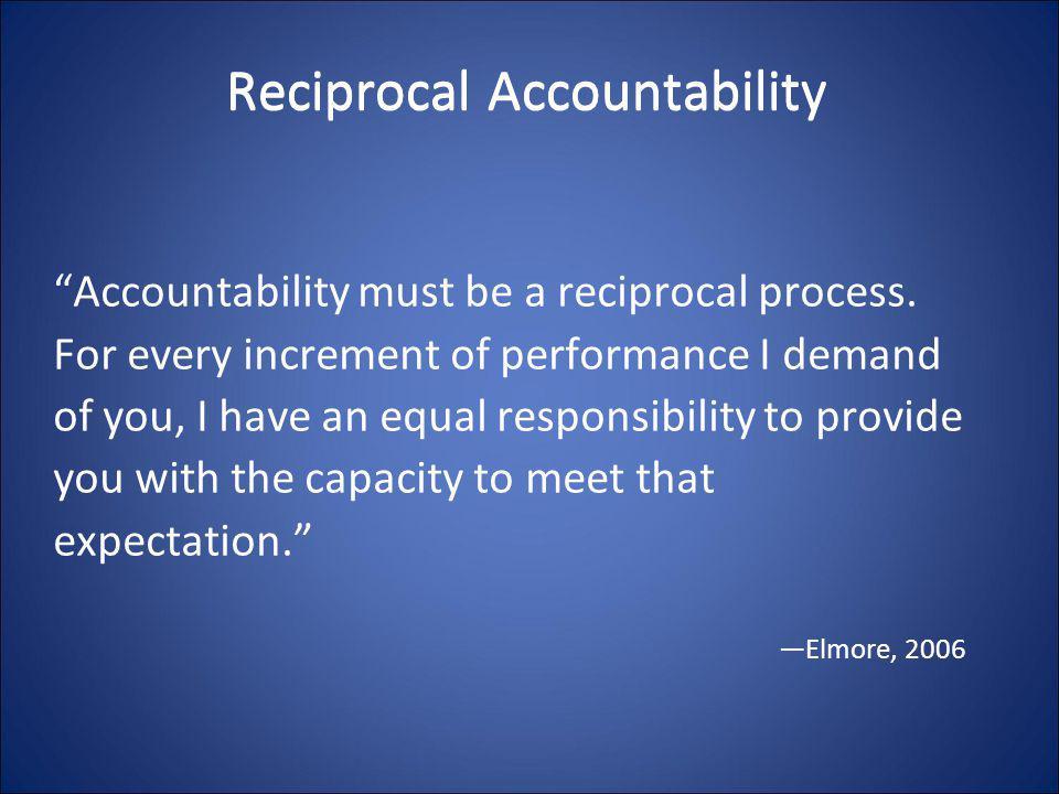Reciprocal Accountability