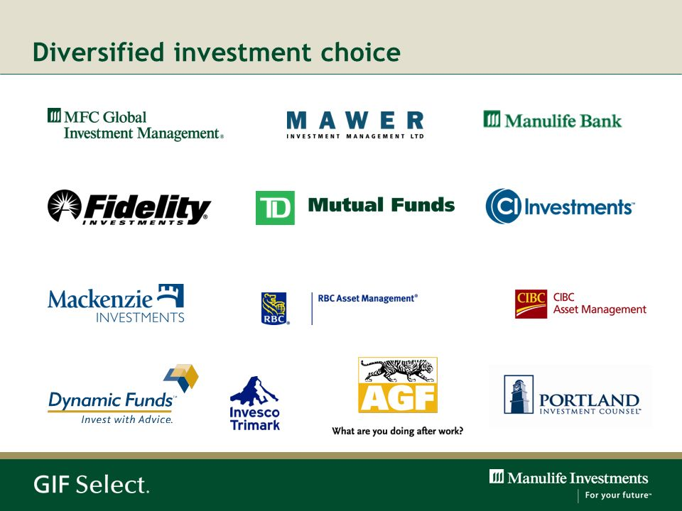 Diversified investment choice