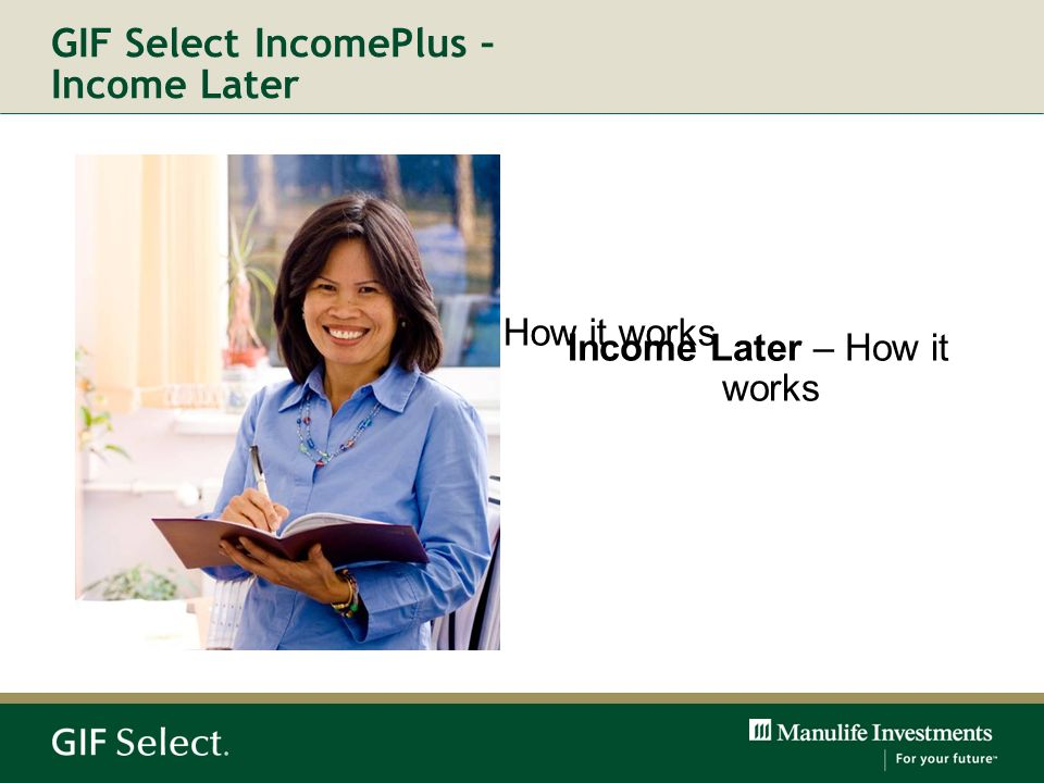 GIF Select IncomePlus – Income Later