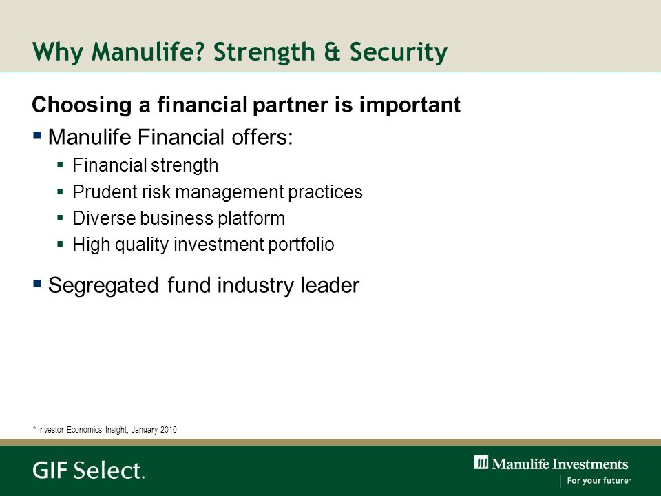 Why Manulife Strength & Security