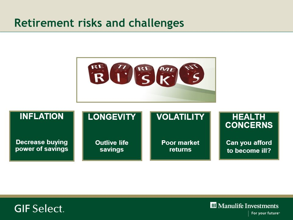 Retirement risks and challenges
