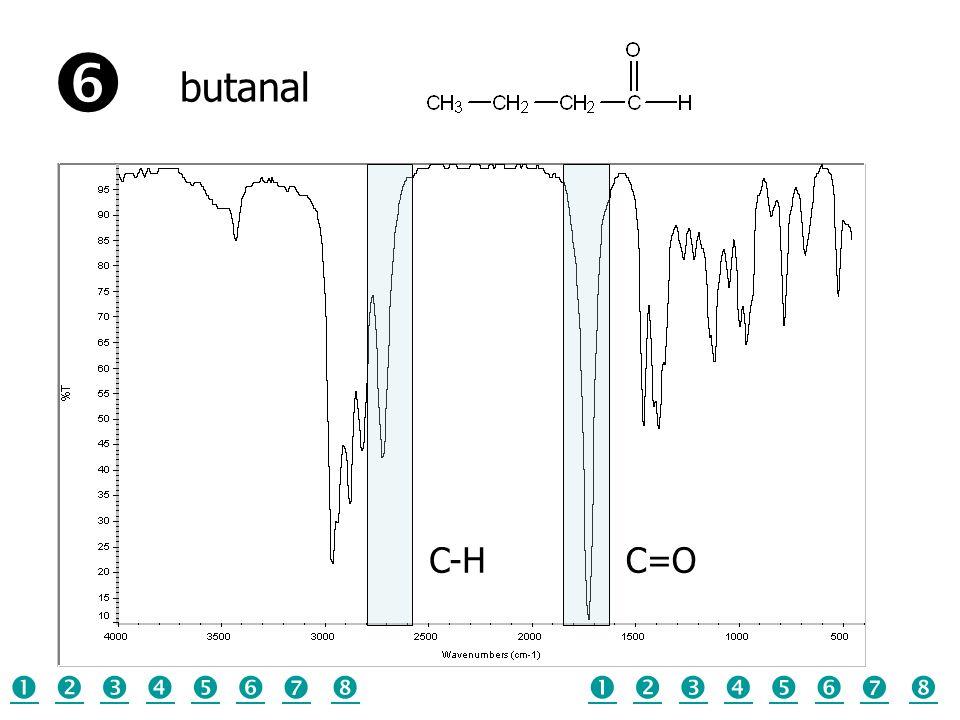  butanal C-H C=O                