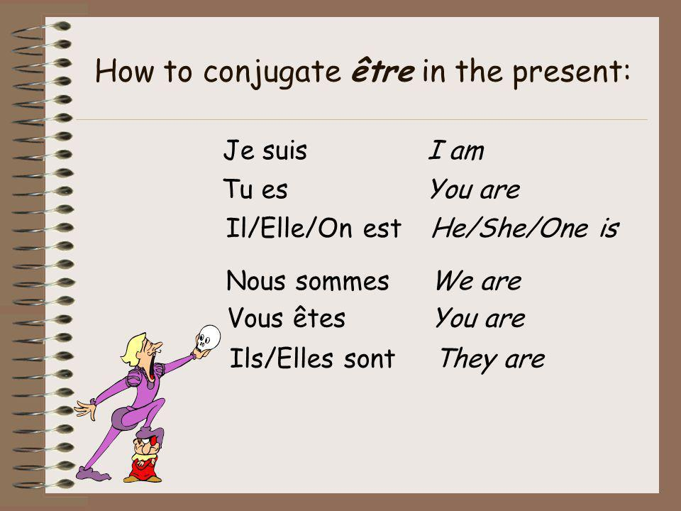 How to conjugate être in the present:
