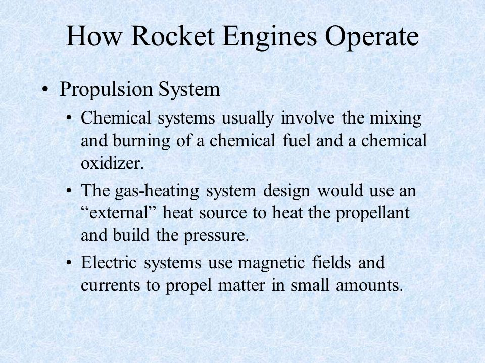 How Rocket Engines Operate