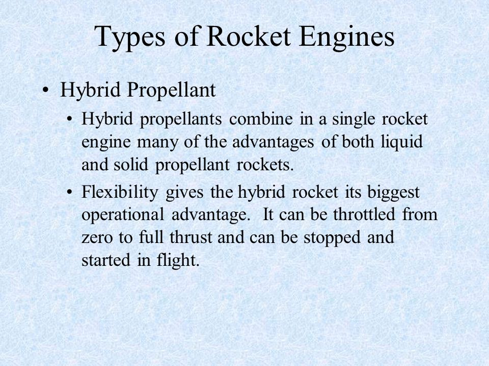 Types of Rocket Engines