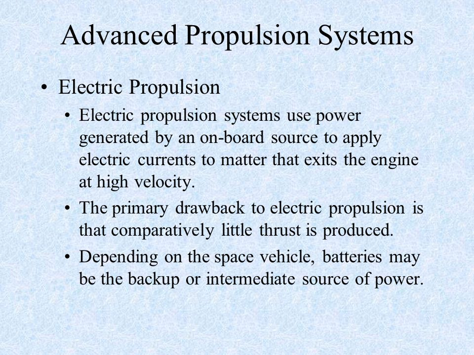 Advanced Propulsion Systems