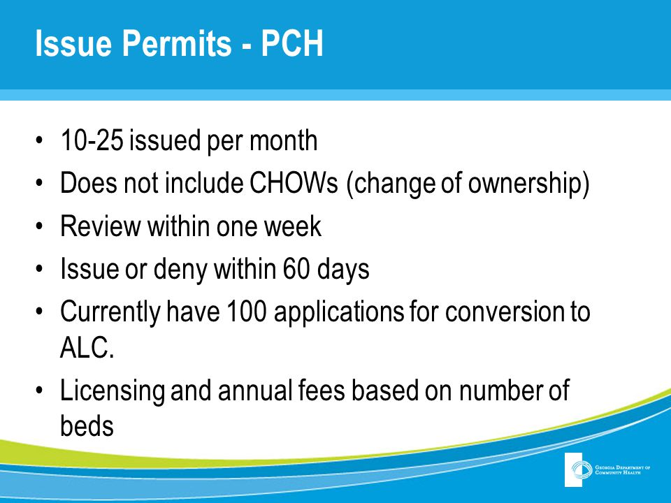Issue Permits - PCH 10-25 issued per month
