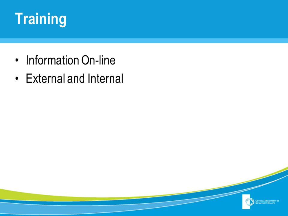 Training Information On-line External and Internal